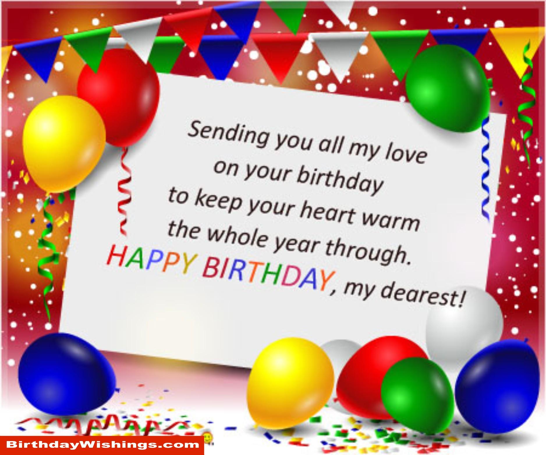 Birthday Poem For Dearest