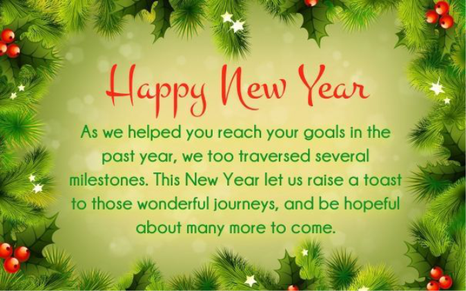 New Year's Wishes & Greetings for Business Partners